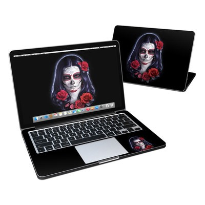 MacBook Pro Retina 13in Skin - Sugar Skull Rose