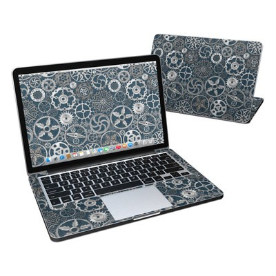 MacBook Pro Retina 13in Skin - Silver Gears
