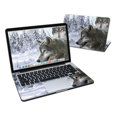 MacBook Pro Retina 13in Skin - Snow Wolves