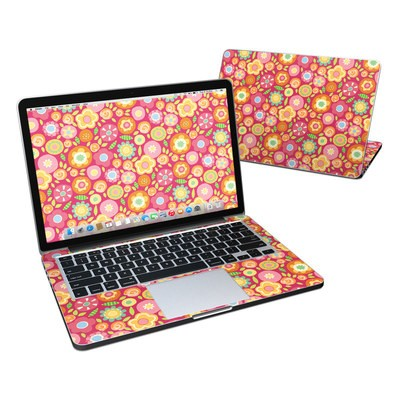 MacBook Pro Retina 13in Skin - Flowers Squished