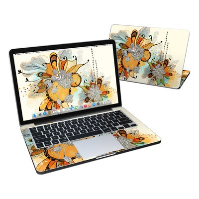 MacBook Pro Retina 13in Skin - Sunset Flowers