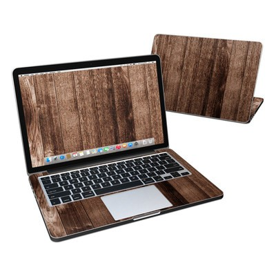 MacBook Pro Retina 13in Skin - Stained Wood