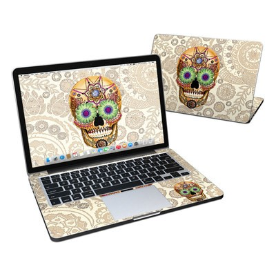 MacBook Pro Retina 13in Skin - Sugar Skull Bone