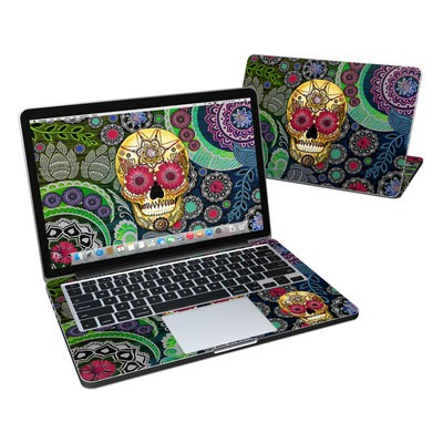 MacBook Pro Retina 13in Skin - Sugar Skull Paisley