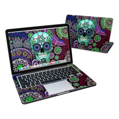 MacBook Pro Retina 13in Skin - Sugar Skull Sombrero