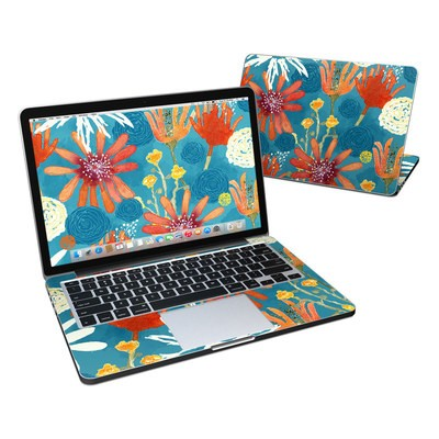 MacBook Pro Retina 13in Skin - Sunbaked Blooms