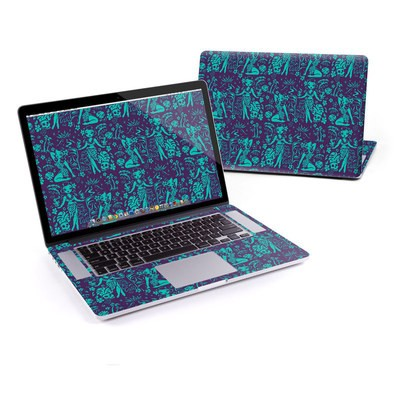 MacBook Pro Retina 13in Skin - Tiki Temptress Teal