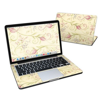 MacBook Pro Retina 13in Skin - Tulip Scroll