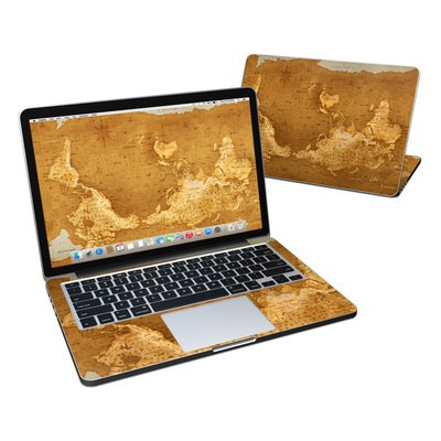 MacBook Pro Retina 13in Skin - Upside Down Map
