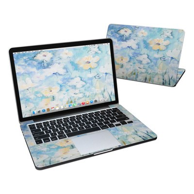 MacBook Pro Retina 13in Skin - White & Blue