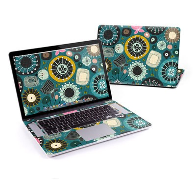 MacBook Pro Retina 15in Skin - Blooms Teal