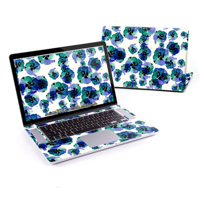 MacBook Pro Retina 15in Skin - Blue Eye Flowers