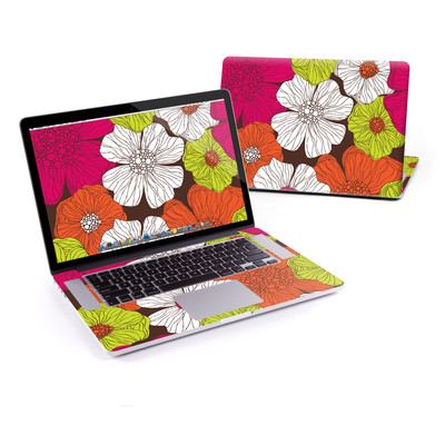 MacBook Pro Retina 15in Skin - Brown Flowers
