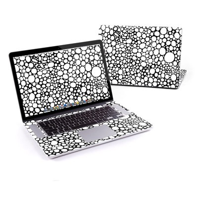 MacBook Pro Retina 15in Skin - BW Bubbles