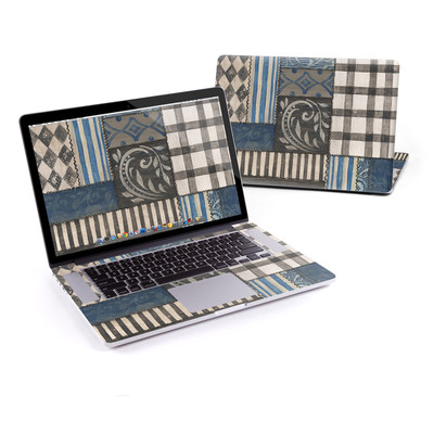 MacBook Pro Retina 15in Skin - Country Chic Blue