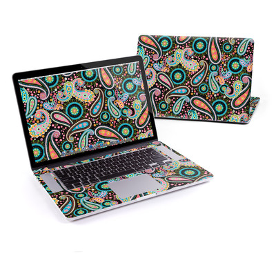MacBook Pro Retina 15in Skin - Crazy Daisy Paisley