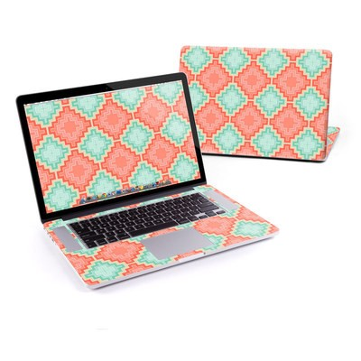 MacBook Pro Retina 15in Skin - Coral Diamond