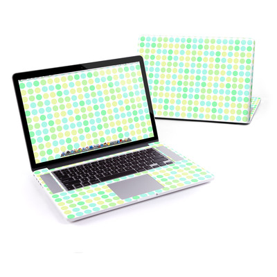 MacBook Pro Retina 15in Skin - Big Dots Mint