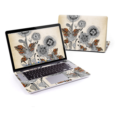 MacBook Pro Retina 15in Skin - Four Flowers