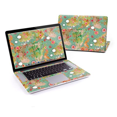 MacBook Pro Retina 15in Skin - Feathers Flowers Showers
