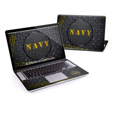 MacBook Pro Retina 15in Skin - Navy Diamond Plate