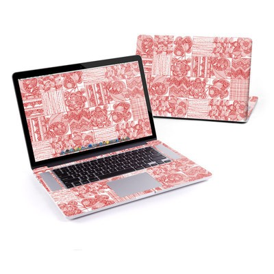MacBook Pro Retina 15in Skin - Red Quilt