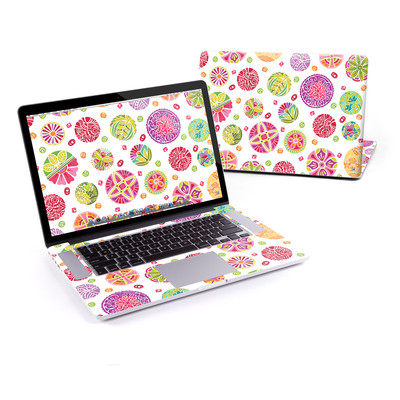 MacBook Pro Retina 15in Skin - Round Flowers