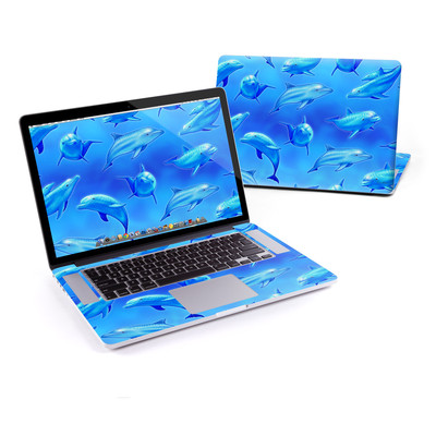 MacBook Pro Retina 15in Skin - Swimming Dolphins
