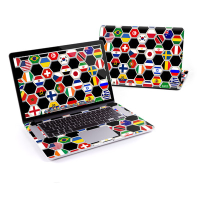 MacBook Pro Retina 15in Skin - Soccer Flags