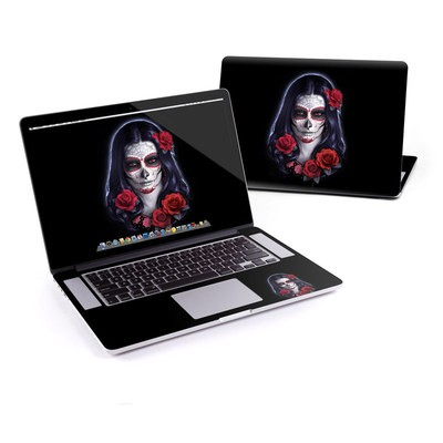 MacBook Pro Retina 15in Skin - Sugar Skull Rose