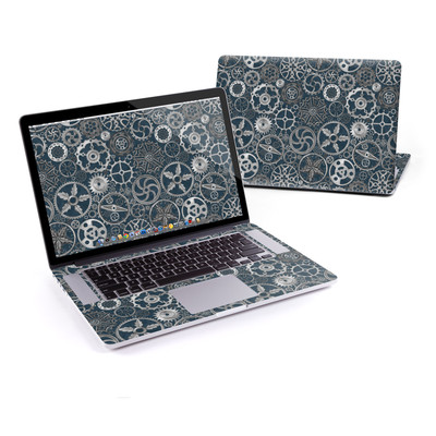 MacBook Pro Retina 15in Skin - Silver Gears