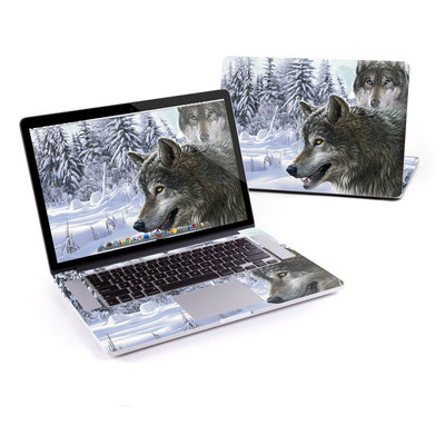 MacBook Pro Retina 15in Skin - Snow Wolves