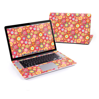 MacBook Pro Retina 15in Skin - Flowers Squished