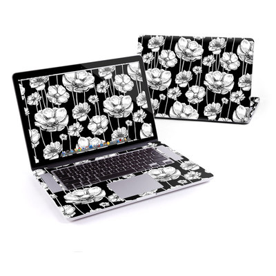 MacBook Pro Retina 15in Skin - Striped Blooms