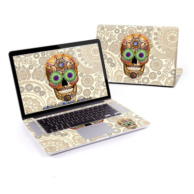 MacBook Pro Retina 15in Skin - Sugar Skull Bone