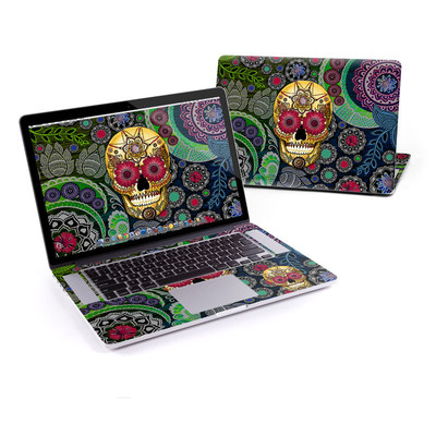 MacBook Pro Retina 15in Skin - Sugar Skull Paisley
