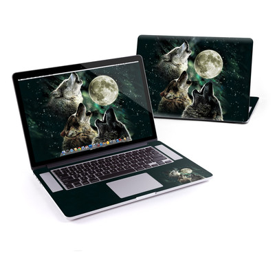MacBook Pro Retina 15in Skin - Three Wolf Moon