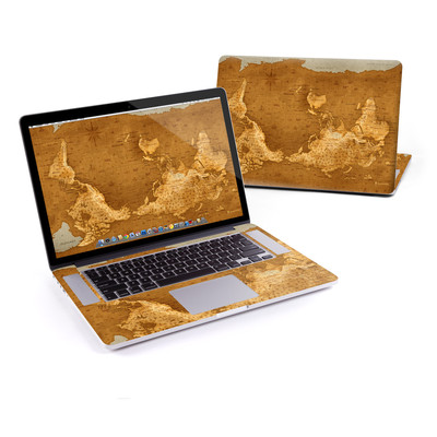 MacBook Pro Retina 15in Skin - Upside Down Map