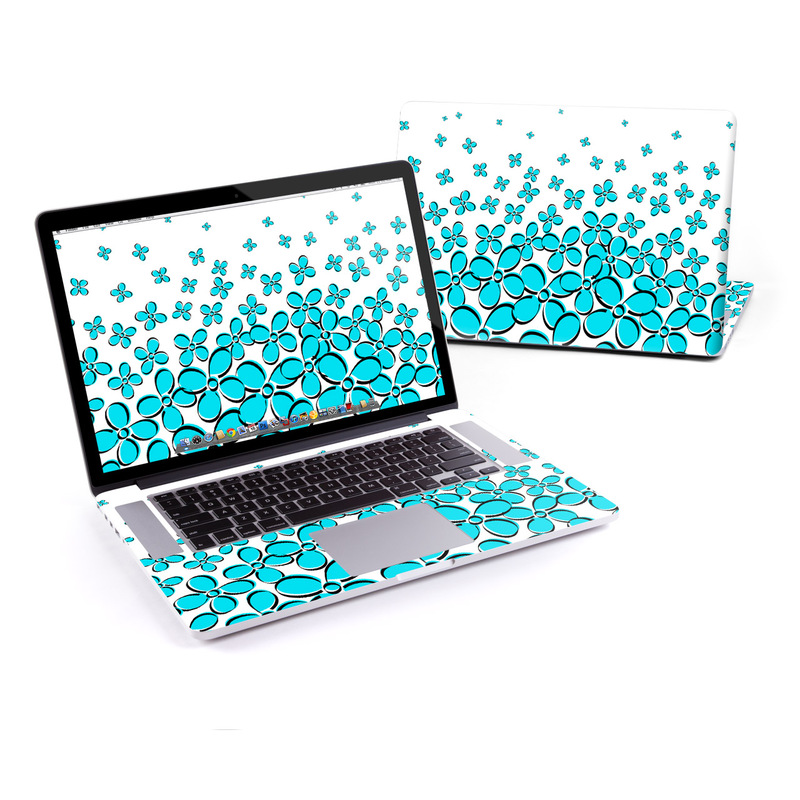 low priced 3b1df ba4fe MacBook Pro Retina 15in Skin - Daisy Field - Teal by DecalGirl Collective