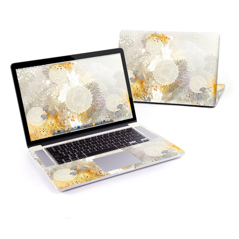 Macbook Pro Retina 15in Skin White Velvet By Iveta