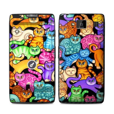 Motorola Droid Razr Maxx HD Skin - Colorful Kittens