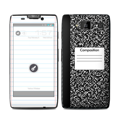Motorola Droid Razr Maxx HD Skin - Composition Notebook