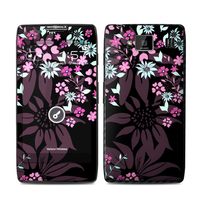 Motorola Droid Razr Maxx HD Skin - Dark Flowers