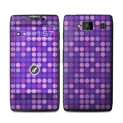 Motorola Droid Razr Maxx HD Skin - Dots Purple