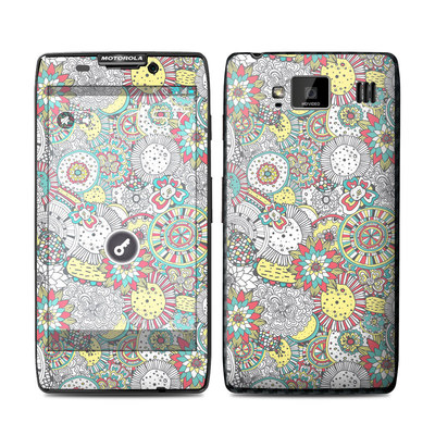 Motorola Droid Razr Maxx HD Skin - Faded Floral