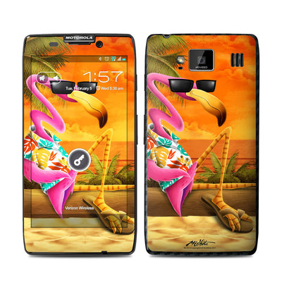 Motorola Droid Razr Maxx HD Skin - Sunset Flamingo