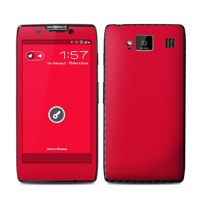 Motorola Droid Razr Maxx HD Skin - Solid State Red
