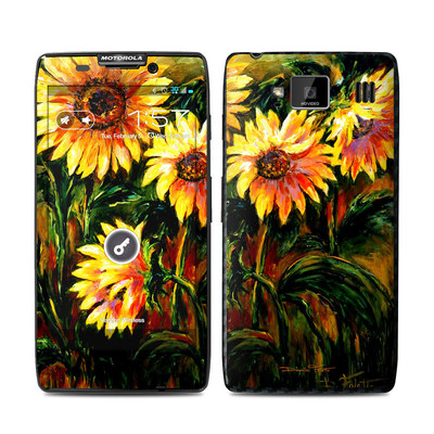 Motorola Droid Razr Maxx HD Skin - Sunflower Sunshine