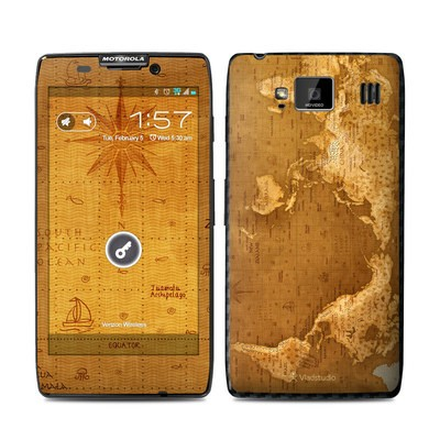 Motorola Droid Razr Maxx HD Skin - Upside Down Map