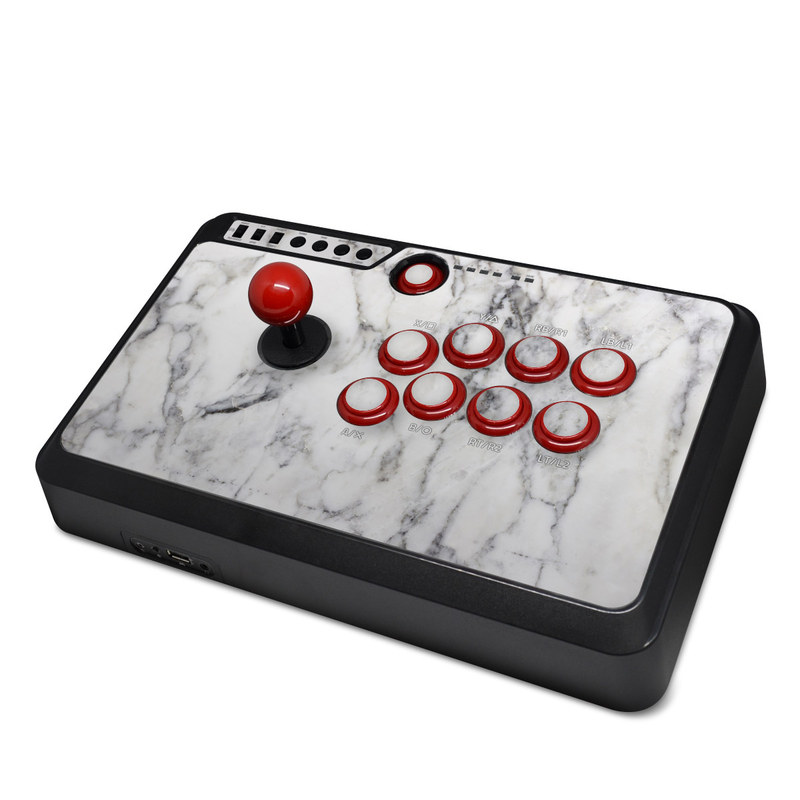 Mayflash F500 Arcade Fightstick Skin White Marble By